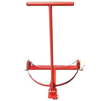 red hand cart for oil drum