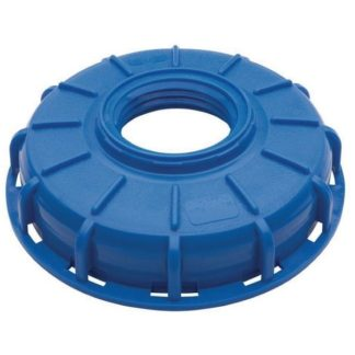 blue cage tank lid with 2 inch buttress insert