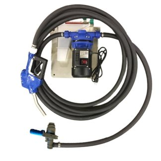 DEF Pump with black hose and coupler