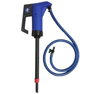 blue def hand pump with hose kit and ball valve