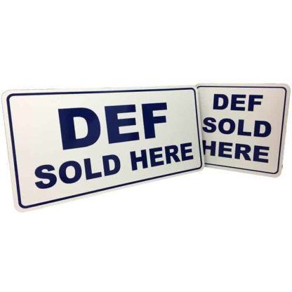def sold here signs