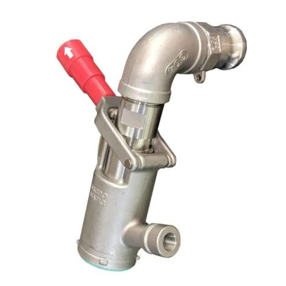 coupler with red handle