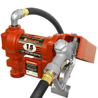 red 15 gallon fuel pump