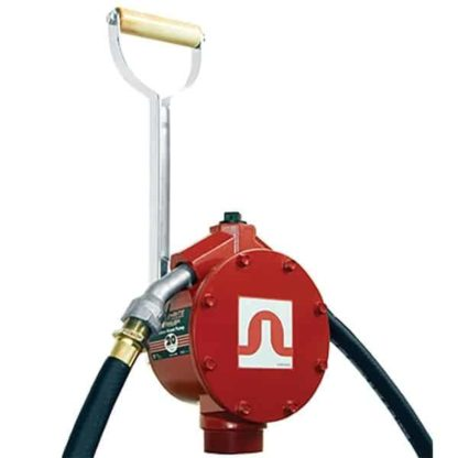 red fill-rite 20 gallon fuel hand pump