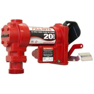 red 20 gallon fuel pump