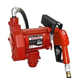 red fill-rite 20 gallon fuel pump