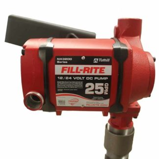 red 25 gallon fuel pump