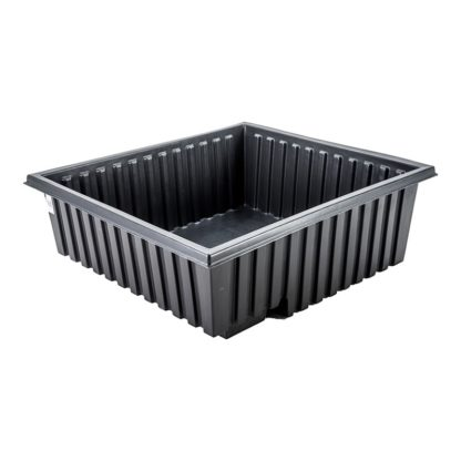 ridged black spill container