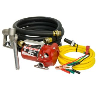 Fuel pump with yellow hose and alligator connectors