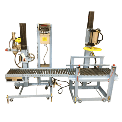 Auto filling work station with sliting conveyer